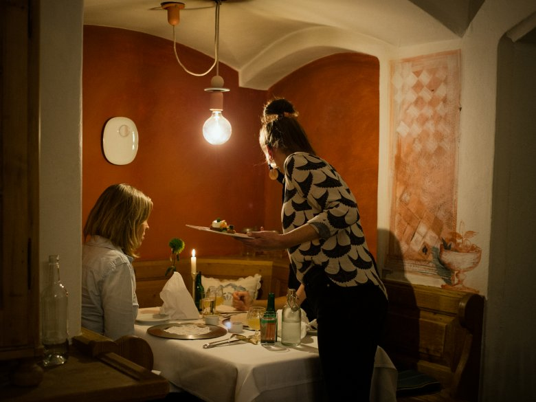 Most food served at the Unterwirt is made from organic produce sourced from the region. , © Tirol Werbung / Nicolas Hafele