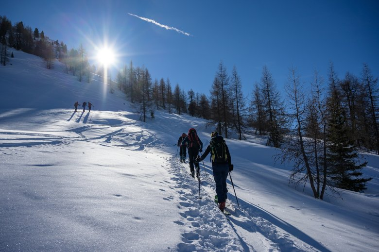 Ski touring is another wonderful way to explore the unspoiled and snow sure backcountry of Schmirntal Valley.