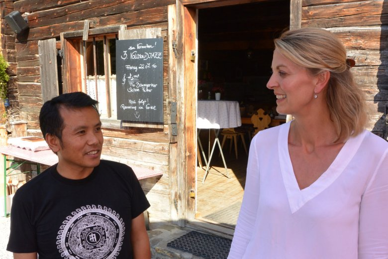 Pemba has been working with Irmgard Wiener at Aldranser Alm for the second summer in a row.