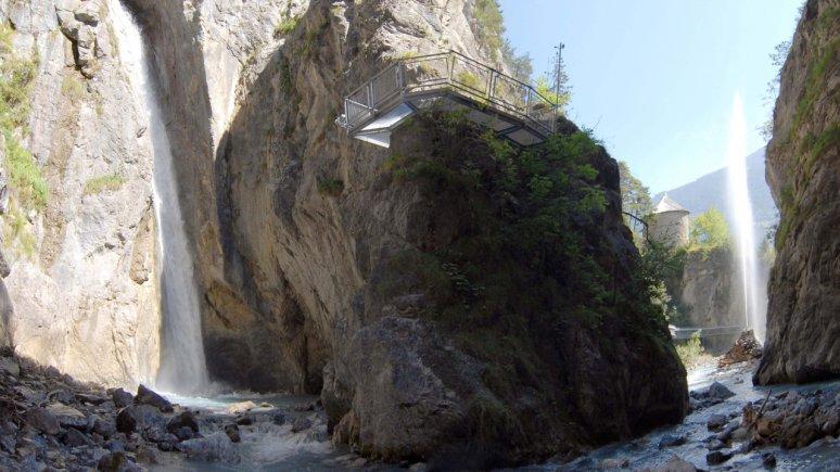 Lötzer Waterfall at Zammer Lochputz, © Archiv TVB TirolWest, Erich Auer