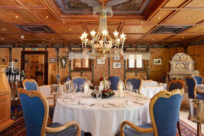 The refined atmosphere of Paznaunerstube, a multi-award winning fine dining restaurant. Photo: Hotel Trofana Royal GmbH