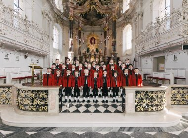 The Boys' Choir on 'Home Turf', the Wilten Basilica. © morefeatures