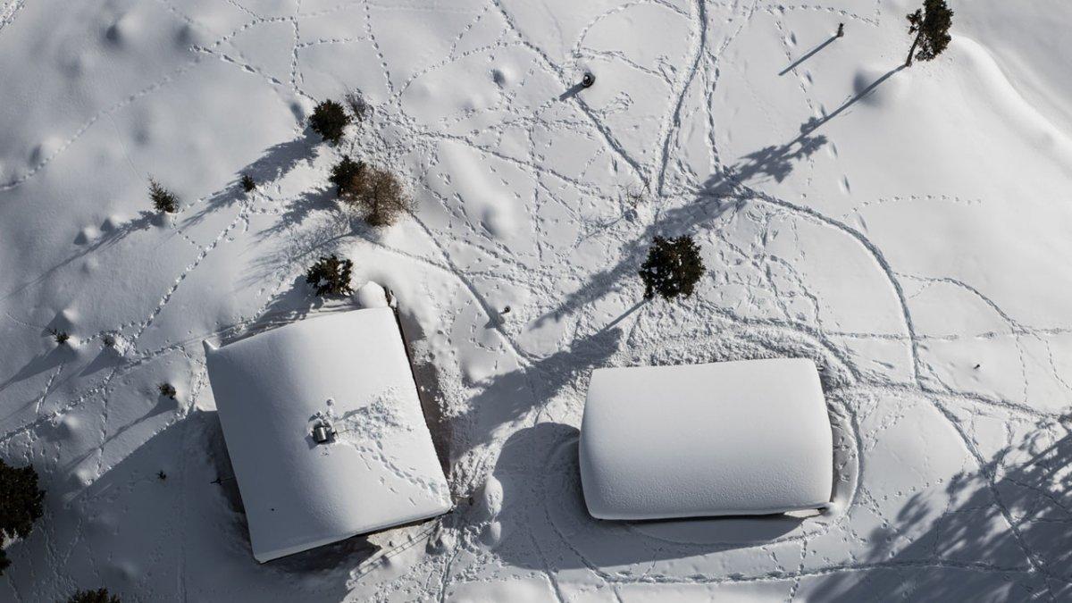 Ballooning in winter, © Dominik Gigler