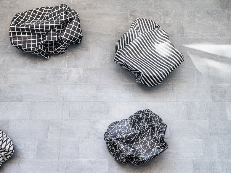 Art to sit on: Seating objects by Esther Stocker.