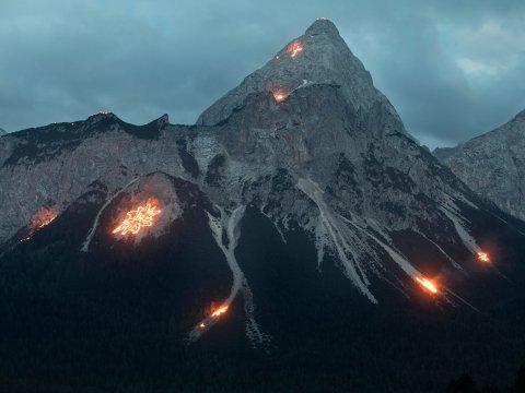 Summer solstice fires in Tirol