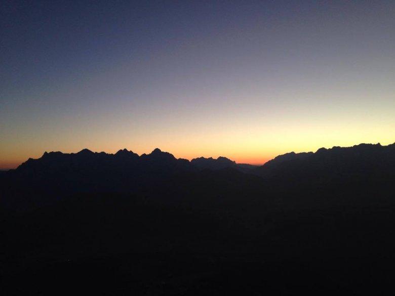 The View of Loferer Steinberge Range from the Summit of Marokka Peak
