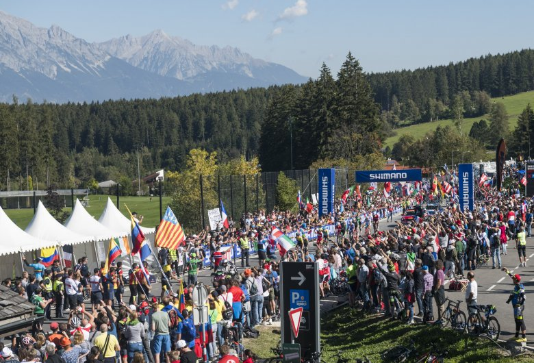 Racing took the riders into the testing Olympic Circuit for six laps and seven climbs of Igls.