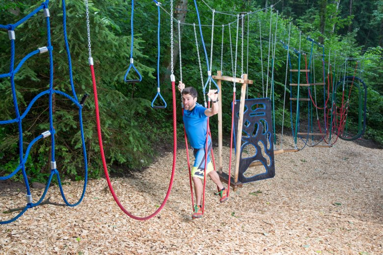 The Motorik Park was designed to improve motor skills for all ages. © Michaela Seidl Photography