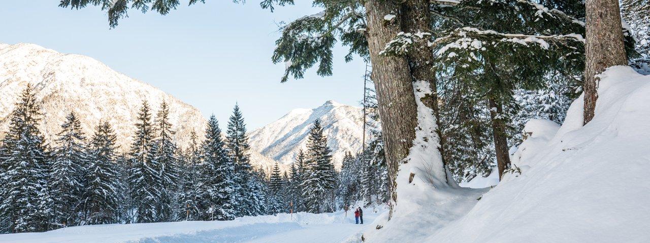 Winter hiking in the Karwendeltäler Valleys, © ÖW/Robert Maybach