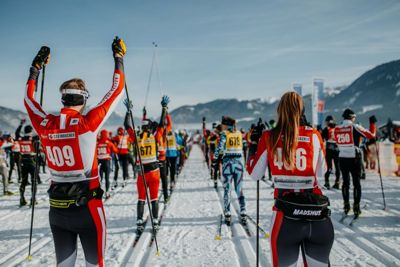 Thousands of Nordic skiers make it to the start line at the Koasa Race. Photo Credit: Tirol Werbung / Charly Schwarz