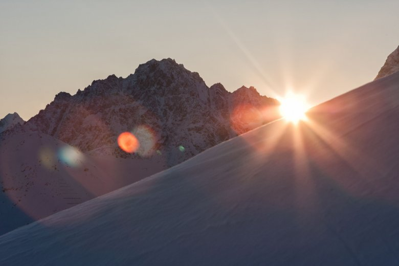 Sunrise at Serfaus-Fiss-Ladis Ski Resort (Photo Credit: Andreas Kirschner)