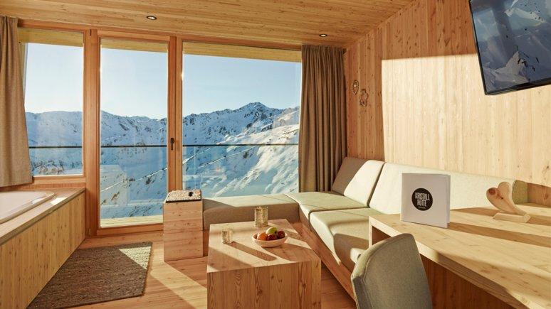 Room in the Kristallhütte hut, © Kristallhütte