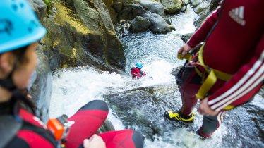 Canyoning in the Auerklamm gorge, Ötztal Valley, © Area47