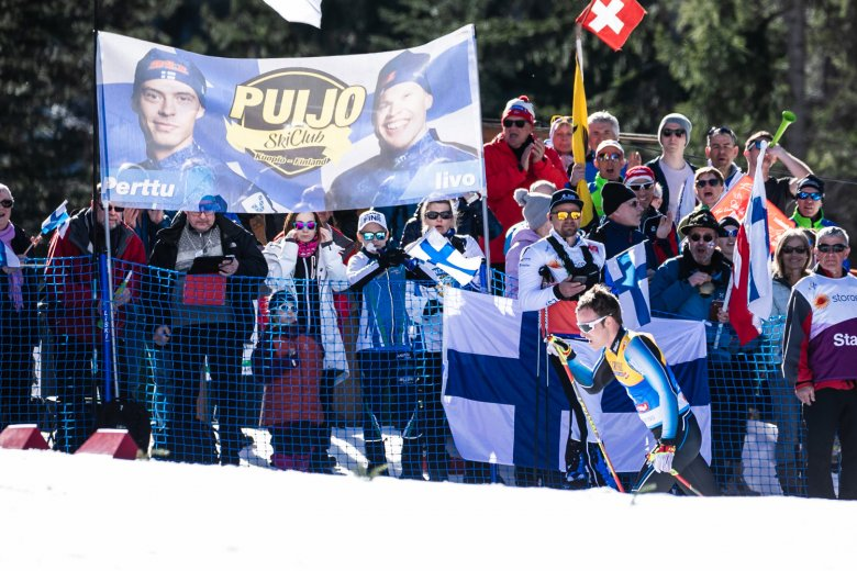 Fans from Finland feeling the World Champs fever.