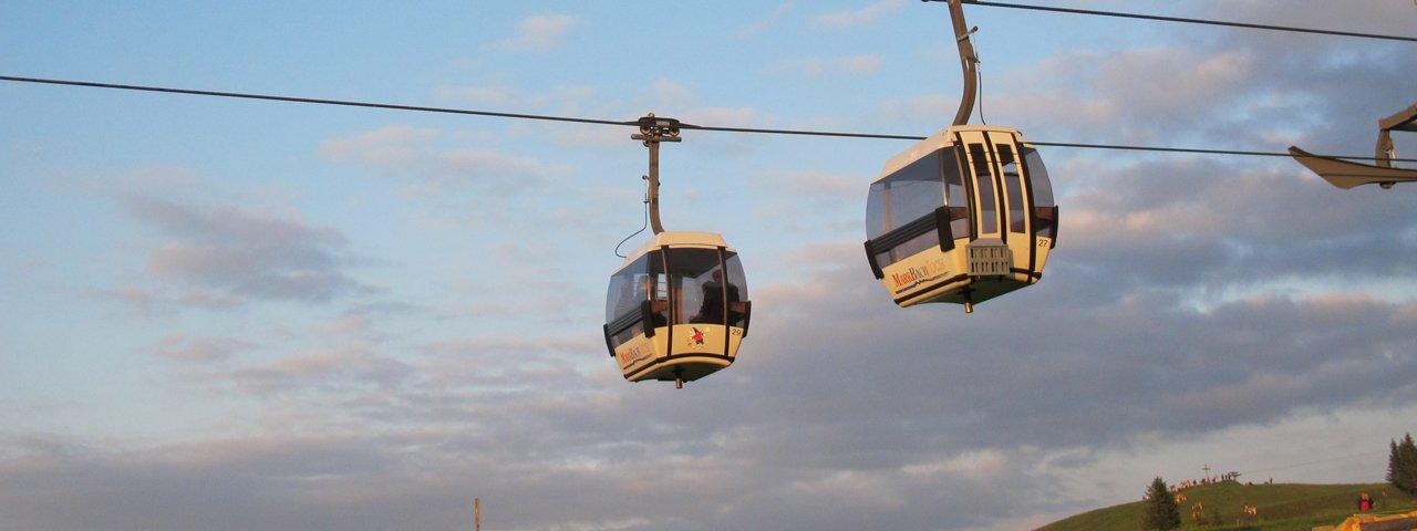 Markbachjochbahn cable car, © TVB Wildschönau