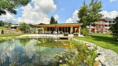 Panorama Sauna Aussenansicht mit Biotop, © Das Hotel Eden