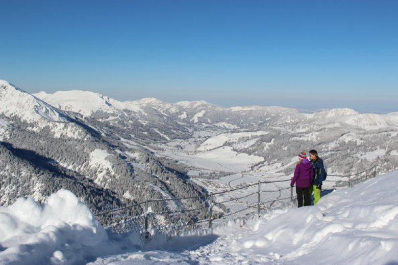 Walking in a winter wonderland in the Tannheimer Tal Valley. (Photo Credit: TVB Tannheimer Tal)