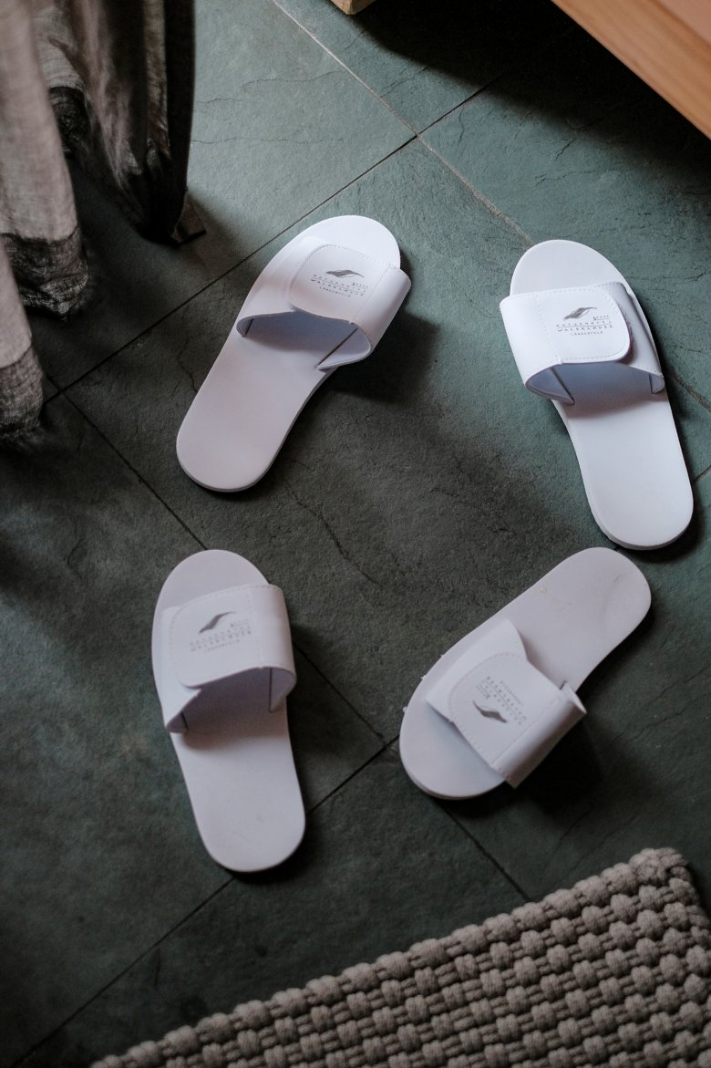 The slippers at the Hotel Waldklause always came back from the cleaning company in a plastic bag, so…