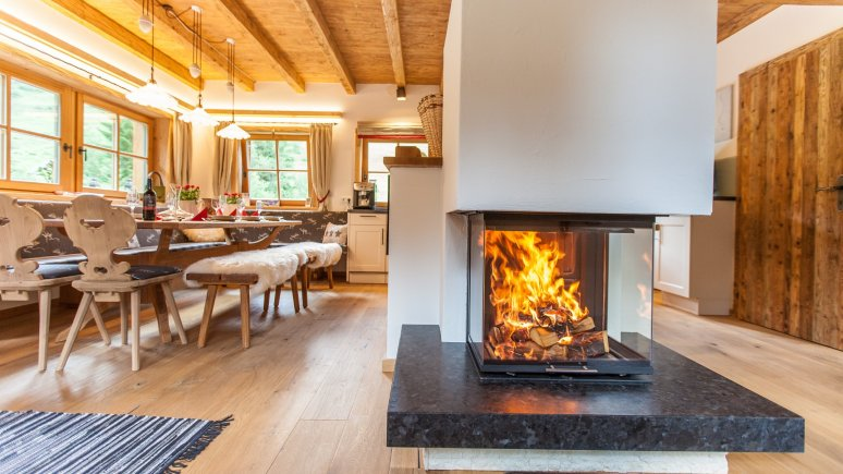 Living area, © Haberlhütte
