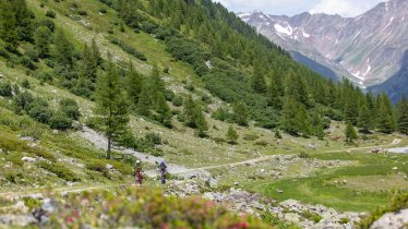 Mountain bike ride in the Paznauntal Valley