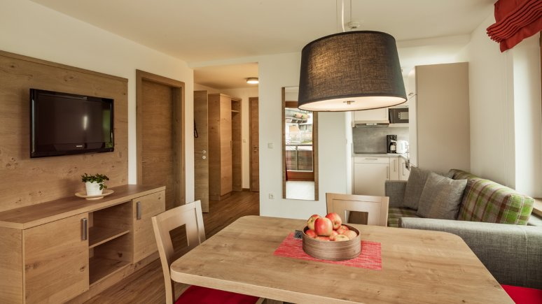 Living room at the Appartements Hubenhof, © Hubenhof