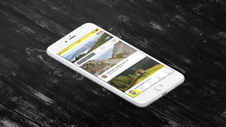 SummitLynxApp for collecting digital stamps along the Eagle Walk, © SummitLynxApp