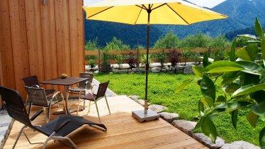 Almflair Chalet Thiersee - Terrasse im Sommer 2, © Werlberger