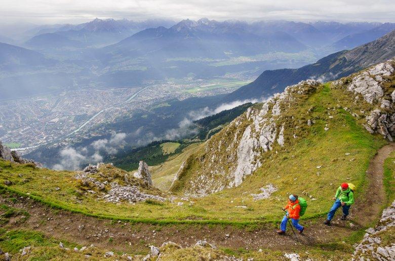 Hiking along the Goethe Trail above Innsbruck.
