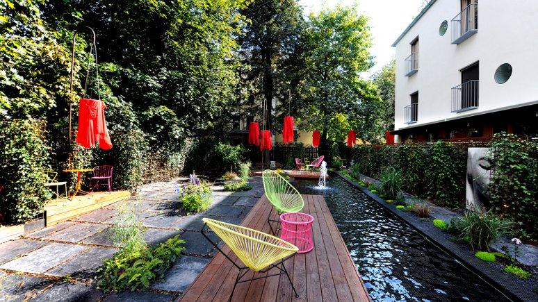 Outdoor area at the Nala Hotel in Innsbruck, © Nala Individuellhotel
