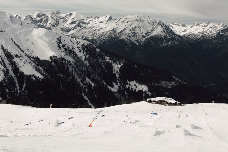 The Fiss Snow Park from above.