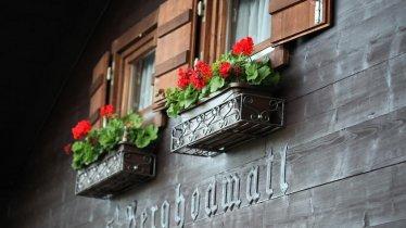 Blumen im Ferienhaus Stock