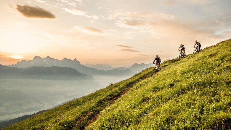 The Kitzbühel Alps are best explored by bike—be it mountain bike, gravel bike or e-bike. Photo Credit: Kitzbüheler Alpen/GHOST-Bikes GmbH