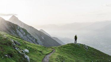 The Goetheweg Trail high above Innsbruck is the highlight of the Eagle Walk