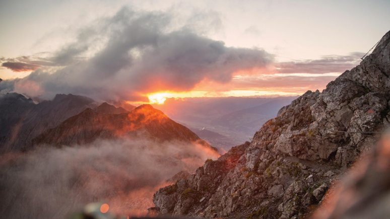 Sunset at Hafelekar mountain, © Innsbruck Tourismus / Christian Vorhofer