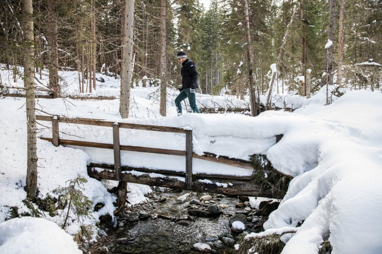 """Heading """"off piste"""" is almost impossible without snowshoes."""