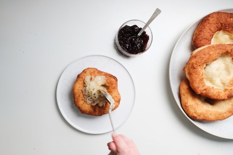 That's it! Serve with Sauerkraut, cranberry jam or simply a sprinkling of icing sugar.