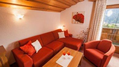 Gemütliche Couchgarnituren in allen Apartments