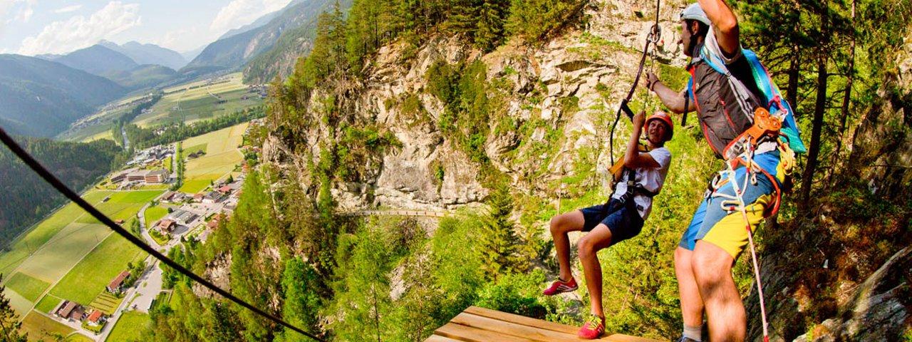 Längenfeld Zipline & High Ropes Park, © Ötztal Tourismus/Riml