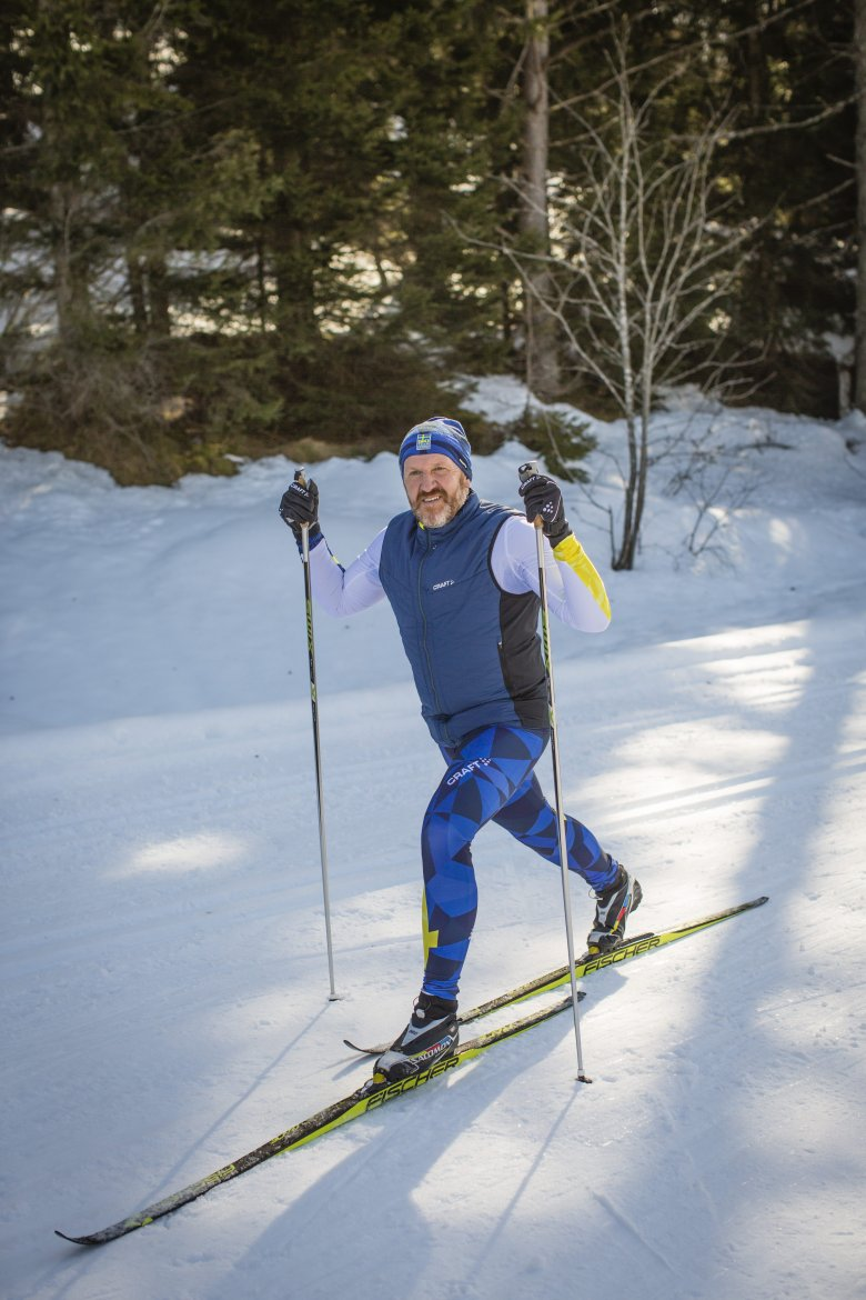 """Before he had discovered cross country skiing, he was one of the laziest guys around, says Rainer Renauer. That has changed a lot. """"I love the peace and quiet out on the trails. Cross country skiing is like a moving meditation. And I love the full-body workout you get from it."""""""