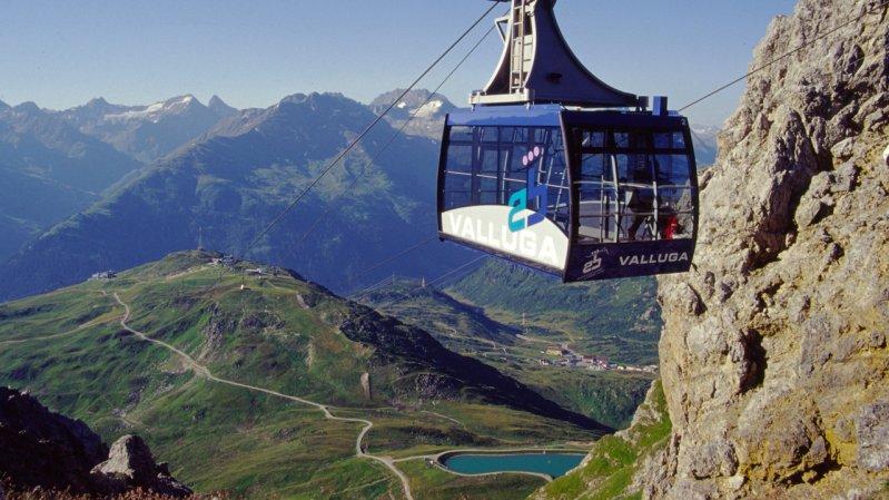 Vallugabahn cable car, © Arlberger Bergbahnen