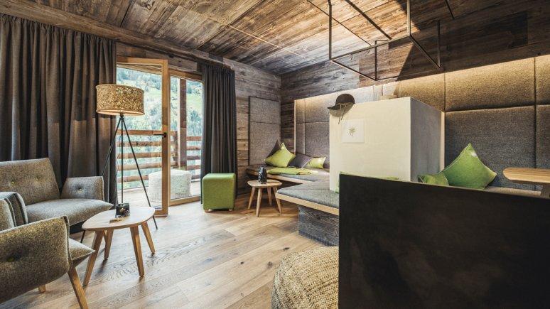 Living area in the Chalets Bergwiesenglück, © Chalets Bergwiesenglück