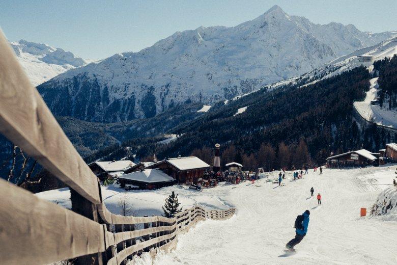 Gampe Thaya lies trailside to Run #11 at the Sölden Ski Resort.