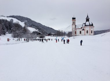 Groomed cross country ski trails with an awesome backdrop in Seefeld