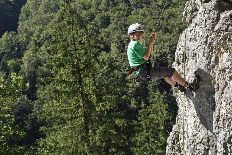 Wiesensee Climbing Area in Hochfilzen. Photo Credit: Joerg Mitter.