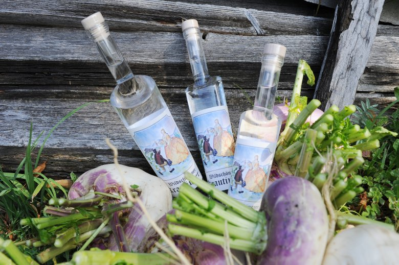 Turnips grown in the Wildschönau region are used to create authentic Krautinger schnapps.