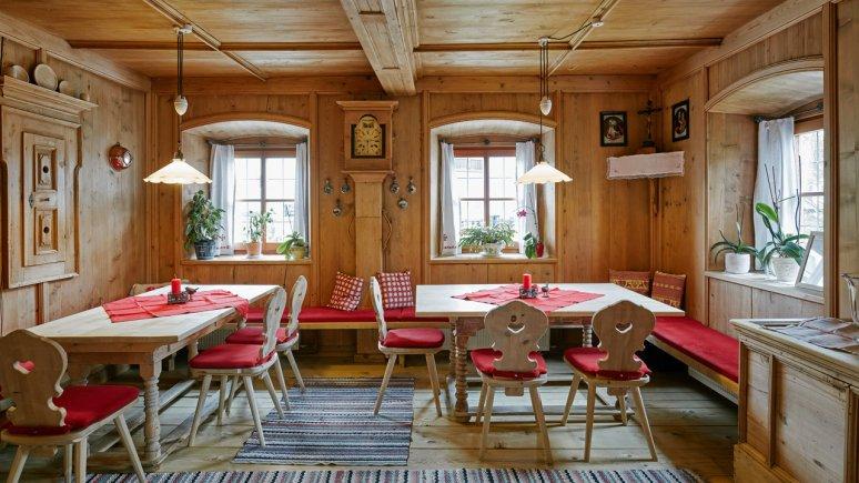 Dining room in the Landhaus Schwarzinger, © David Schreyer