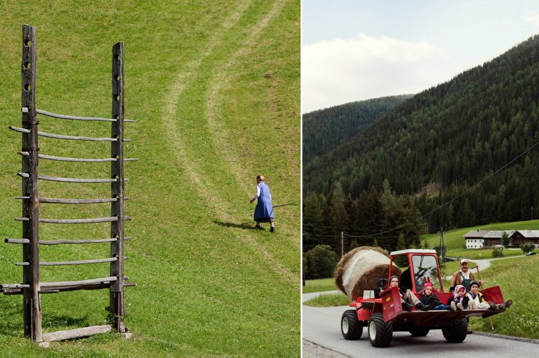 A population of almost 1,800 resident is scattered over this high valley with its steep meadows and picturesque (farm) houses, whose weathered wooden facades tell ancient stories.
