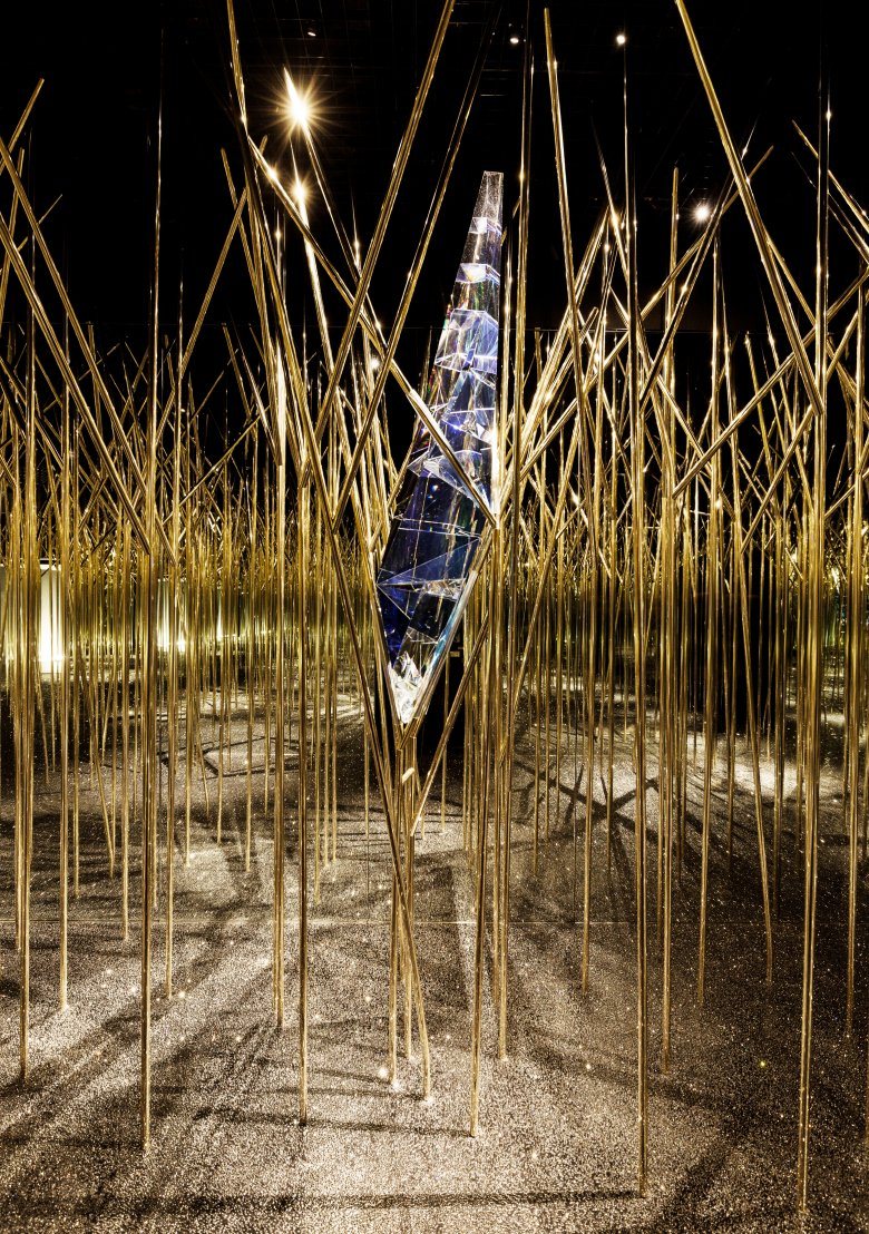 The Garden of Eden with a difference: British avant-garde duo Fredrikson Stellrad created an enchanted forest. Photo: Swarovski Crystal Worlds