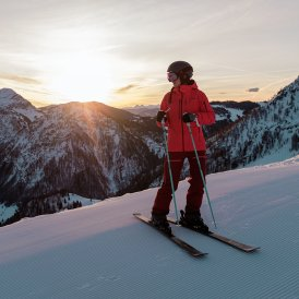 Early morning skiing in Fieberbrunn, © Tirol Werbung / Hans Herbig