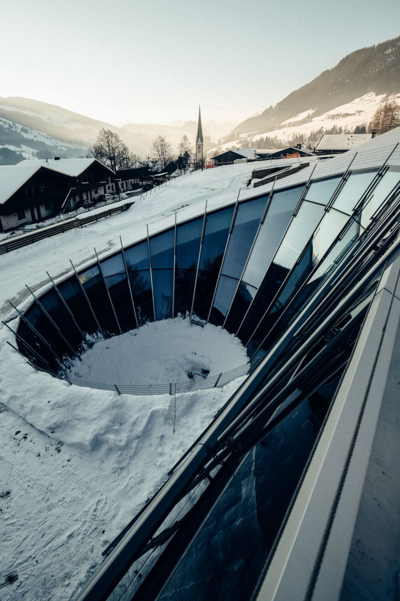 Built into the mountainside: The contemporary Congress Centre Alpbach.